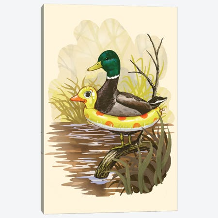Duck In Training Canvas Print #STV16} by Steven Rhodes Canvas Art Print