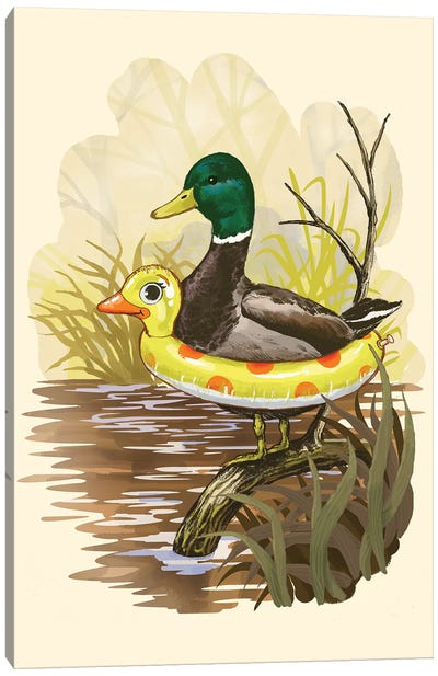 Duck In Training Canvas Art Print