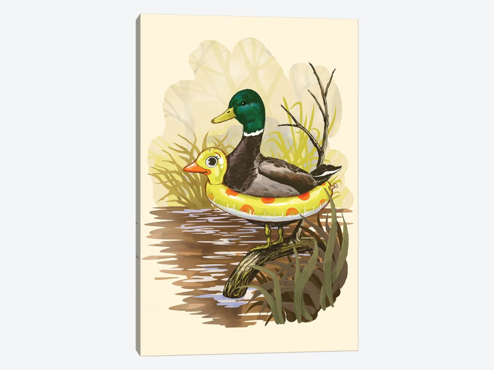 Duck In Training 1-piece Canvas Wall Art