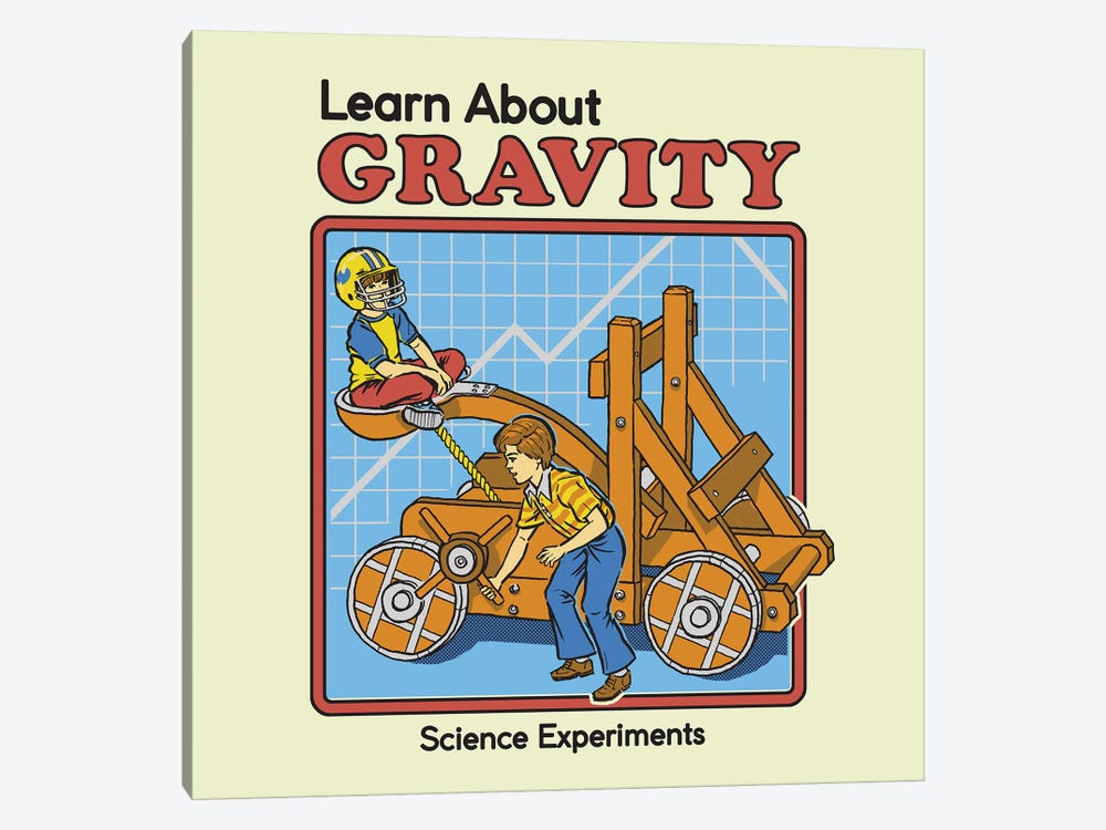 Learn About Gravity by Steven Rhodes 1-piece Canvas Art Print