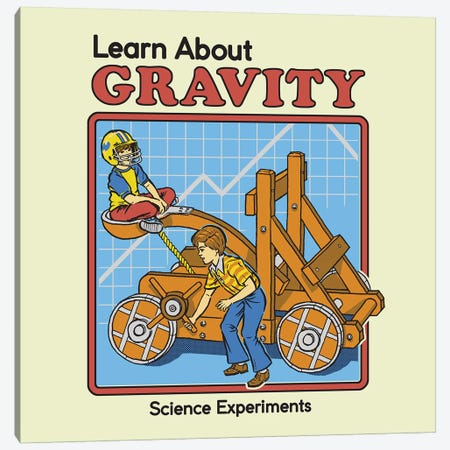 Learn About Gravity 3-Piece Canvas #STV20} by Steven Rhodes Canvas Art Print