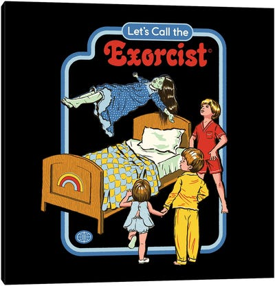 Let's Call The Exorcist Canvas Art Print