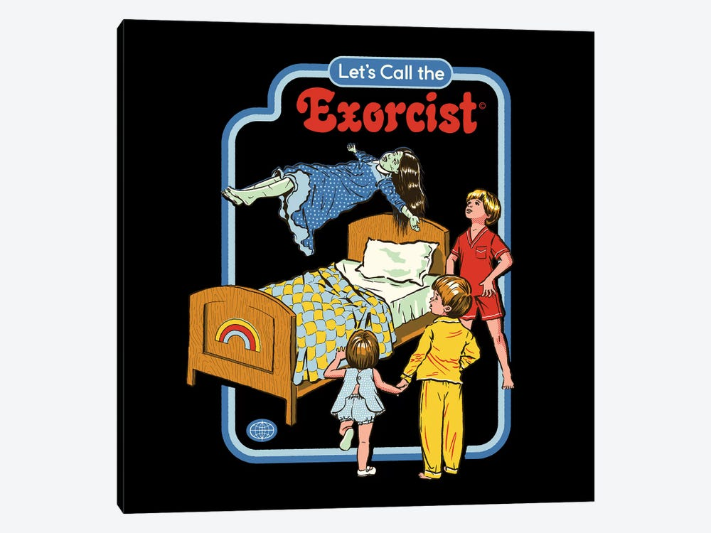 Let's Call The Exorcist by Steven Rhodes 1-piece Canvas Artwork
