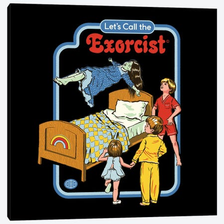 Let's Call The Exorcist Canvas Print #STV21} by Steven Rhodes Art Print