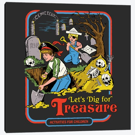 Let's Dig For Treasure Canvas Print #STV22} by Steven Rhodes Art Print