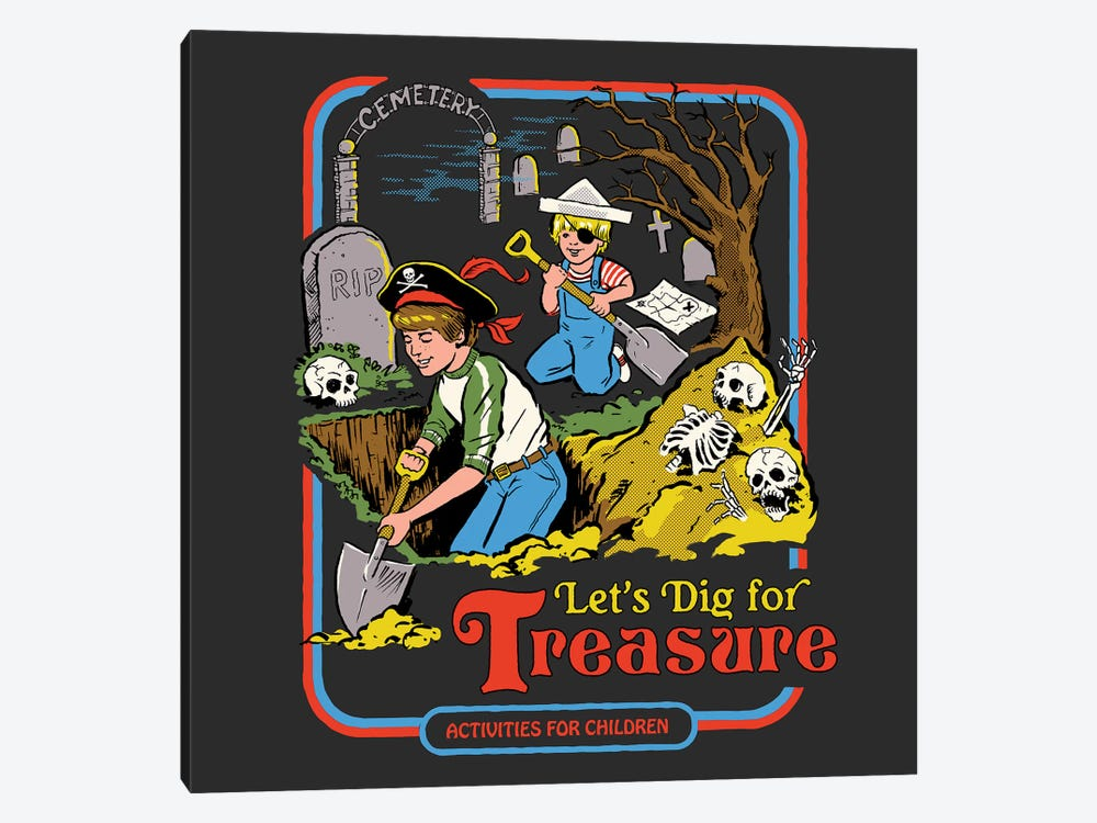 Let's Dig For Treasure by Steven Rhodes 1-piece Canvas Print