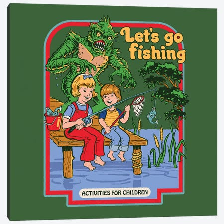 Let's Go Fishing Canvas Print #STV23} by Steven Rhodes Art Print