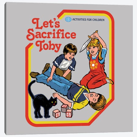 Let's Sacrifice Toby Canvas Print #STV25} by Steven Rhodes Canvas Art