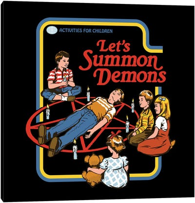 Let's Summon Demons Canvas Art Print