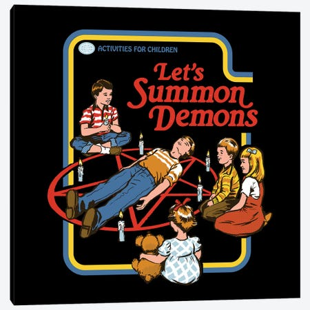 Let's Summon Demons Canvas Print #STV26} by Steven Rhodes Canvas Artwork