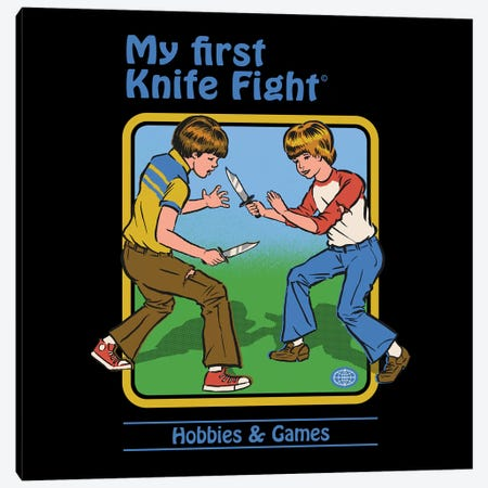 My First Knife Fight Canvas Print #STV27} by Steven Rhodes Canvas Art