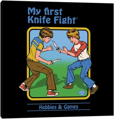My First Knife Fight Canvas Art Print