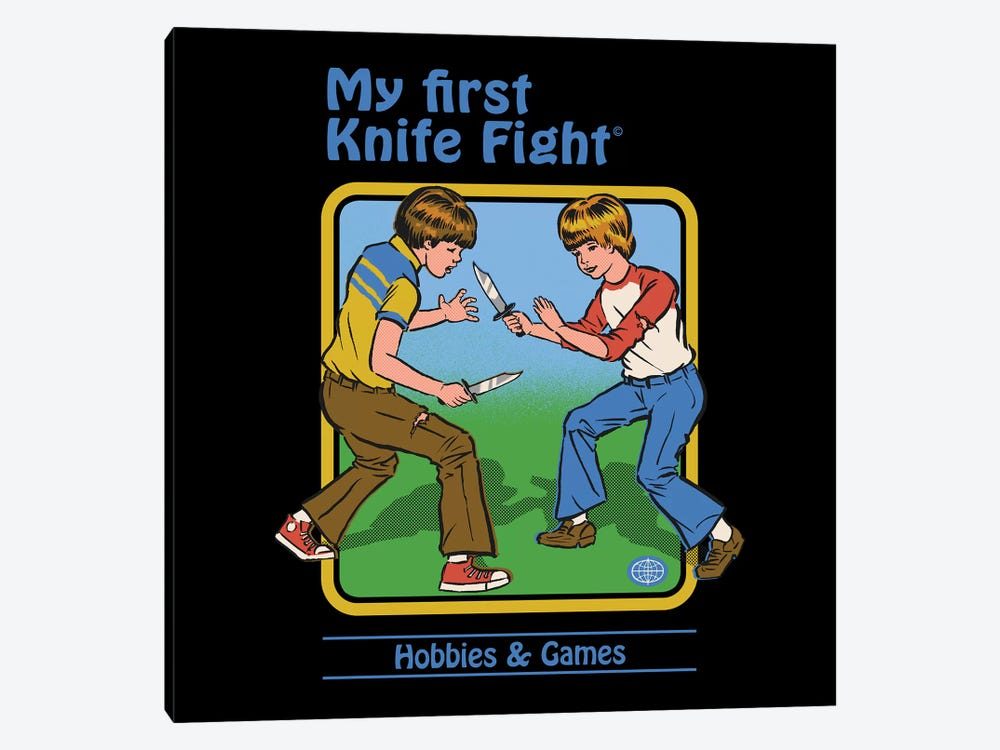 My First Knife Fight by Steven Rhodes 1-piece Canvas Artwork