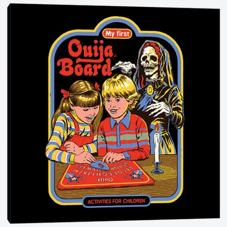 My First Ouija Board Canvas Print #STV28} by Steven Rhodes Canvas Print