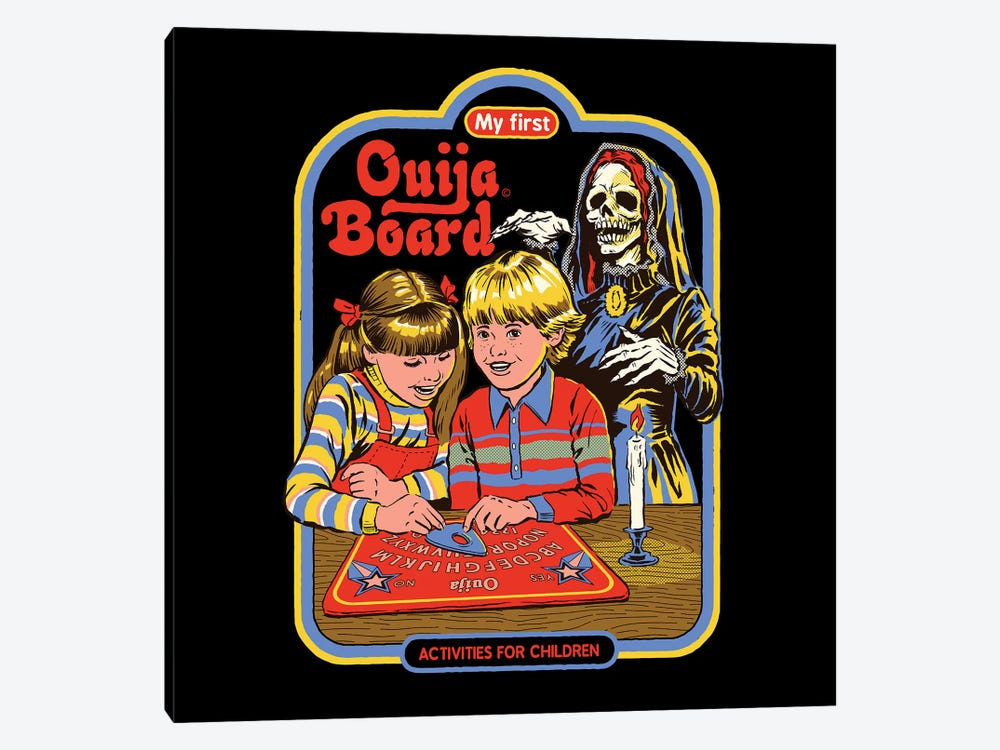 My First Ouija Board by Steven Rhodes 1-piece Canvas Art Print