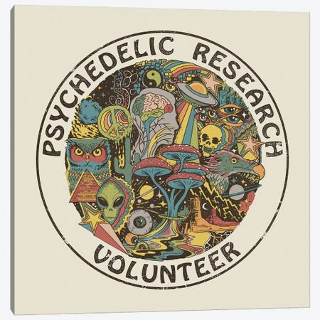 Psychedelic Research Volunteer Canvas Print #STV29} by Steven Rhodes Art Print