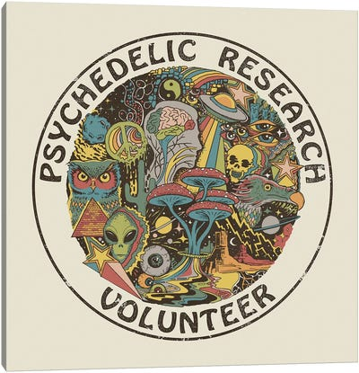 Psychedelic Research Volunteer Canvas Art Print