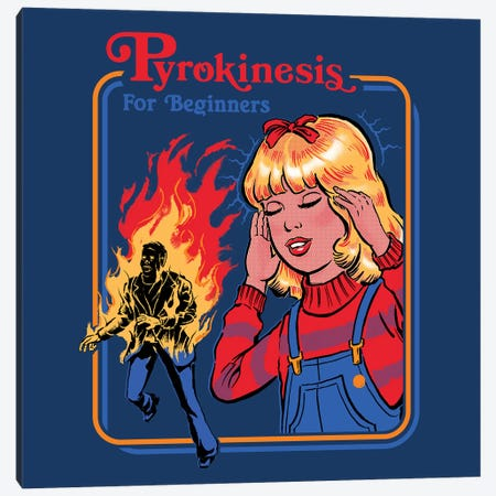 Pyrokinesis For Beginners Canvas Print #STV30} by Steven Rhodes Canvas Artwork