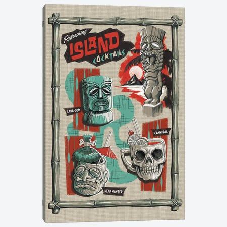 Refreshing Island Cocktails Canvas Print #STV32} by Steven Rhodes Canvas Wall Art