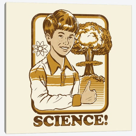 Science! Canvas Print #STV34} by Steven Rhodes Canvas Art Print