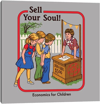 Sell Your Soul Canvas Art Print
