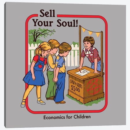 Sell Your Soul Canvas Print #STV35} by Steven Rhodes Canvas Print