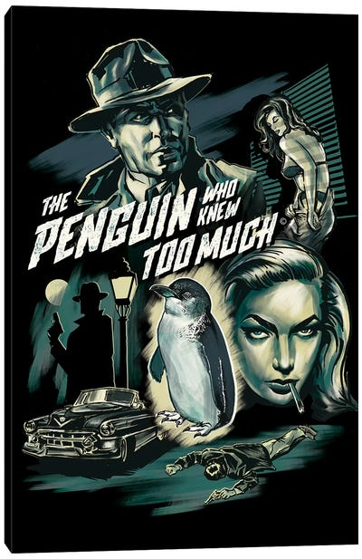 The Penguin Who Knew Too Much Canvas Art Print