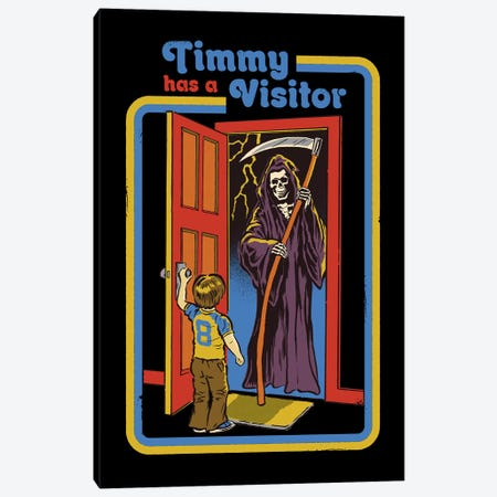 Timmy Has A Visitor Canvas Print #STV40} by Steven Rhodes Art Print