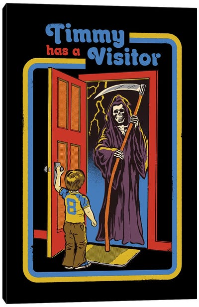 Timmy Has A Visitor Canvas Art Print