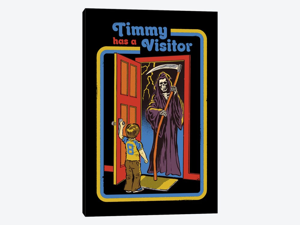 Timmy Has A Visitor by Steven Rhodes 1-piece Art Print