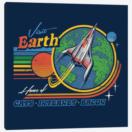 Visit Earth Canvas Print #STV41} by Steven Rhodes Canvas Print