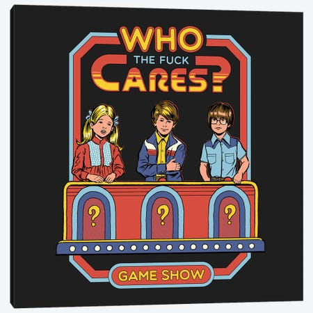 Who Cares Canvas Print #STV42} by Steven Rhodes Canvas Print