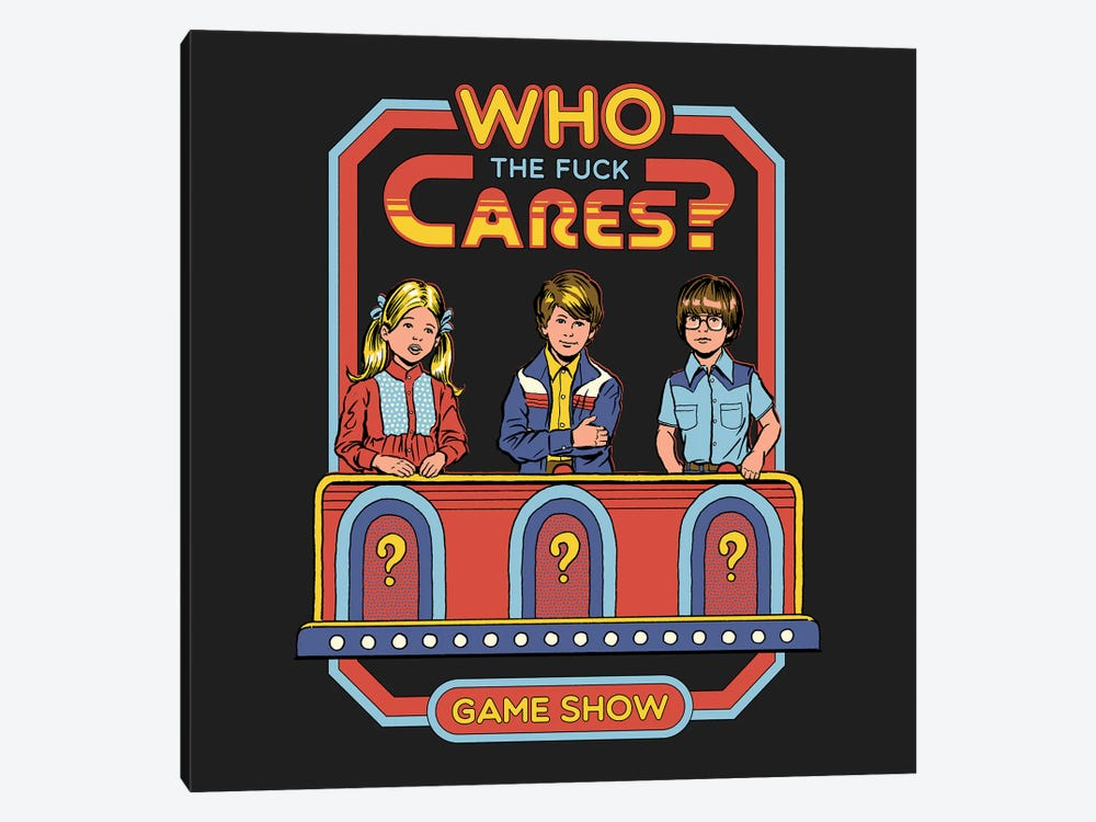 Who Cares by Steven Rhodes 1-piece Canvas Print