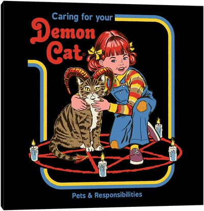 Caring For Your Demon Cat Canvas Art Print