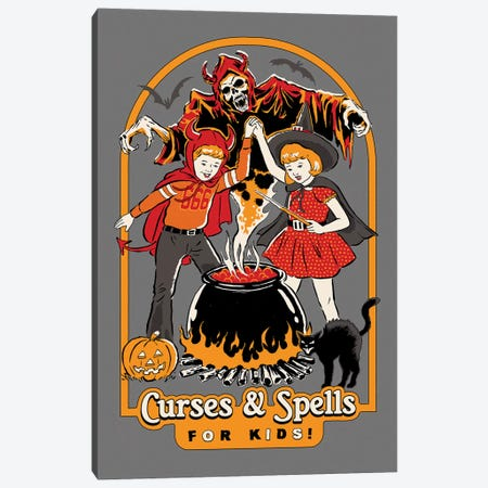 Curses & Spells Canvas Print #STV45} by Steven Rhodes Canvas Art