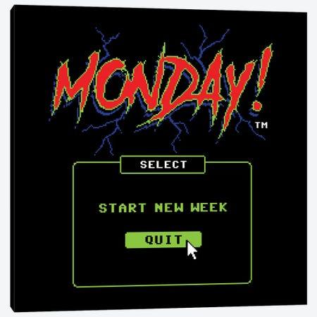 Monday! 3-Piece Canvas #STV48} by Steven Rhodes Canvas Art Print