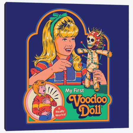 My First Voodoo Doll Canvas Print #STV49} by Steven Rhodes Canvas Print