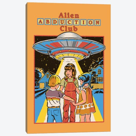 Alien Abduction Club Canvas Print #STV4} by Steven Rhodes Canvas Artwork
