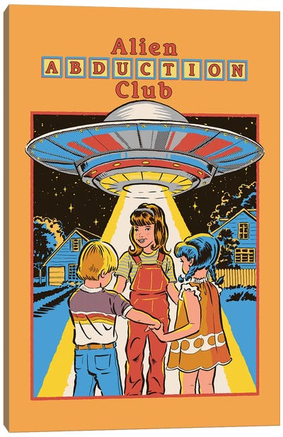Alien Abduction Club Canvas Art Print