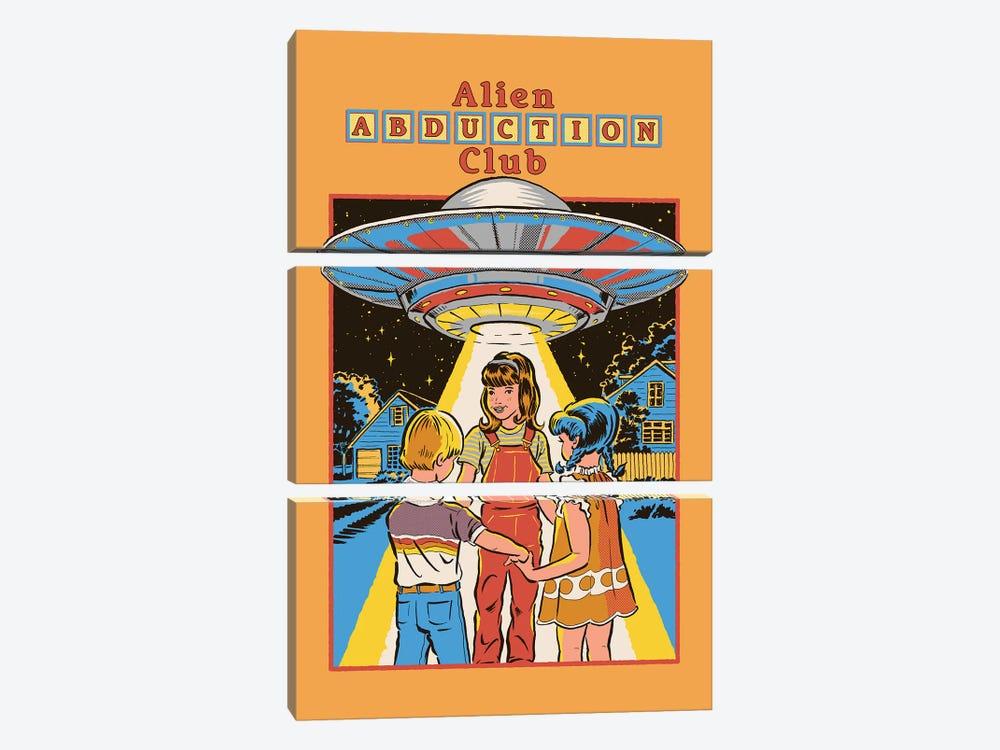 Alien Abduction Club by Steven Rhodes 3-piece Canvas Print