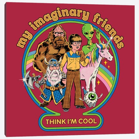 My Imaginary Friends Canvas Print #STV50} by Steven Rhodes Canvas Art