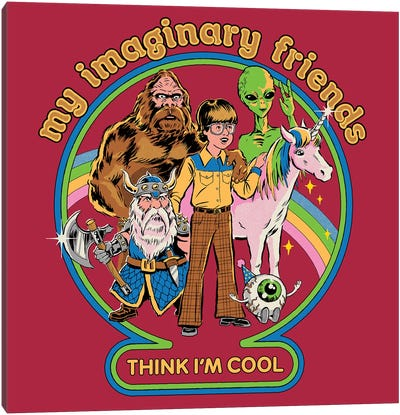 My Imaginary Friends Canvas Art Print