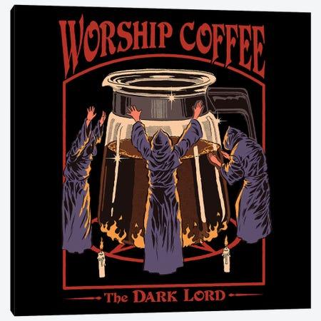 Worship Coffee Canvas Print #STV52} by Steven Rhodes Canvas Wall Art