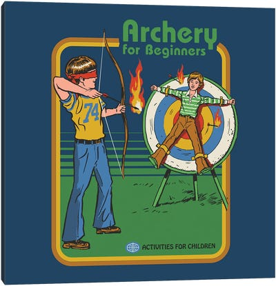 Archery For Beginners Canvas Art Print