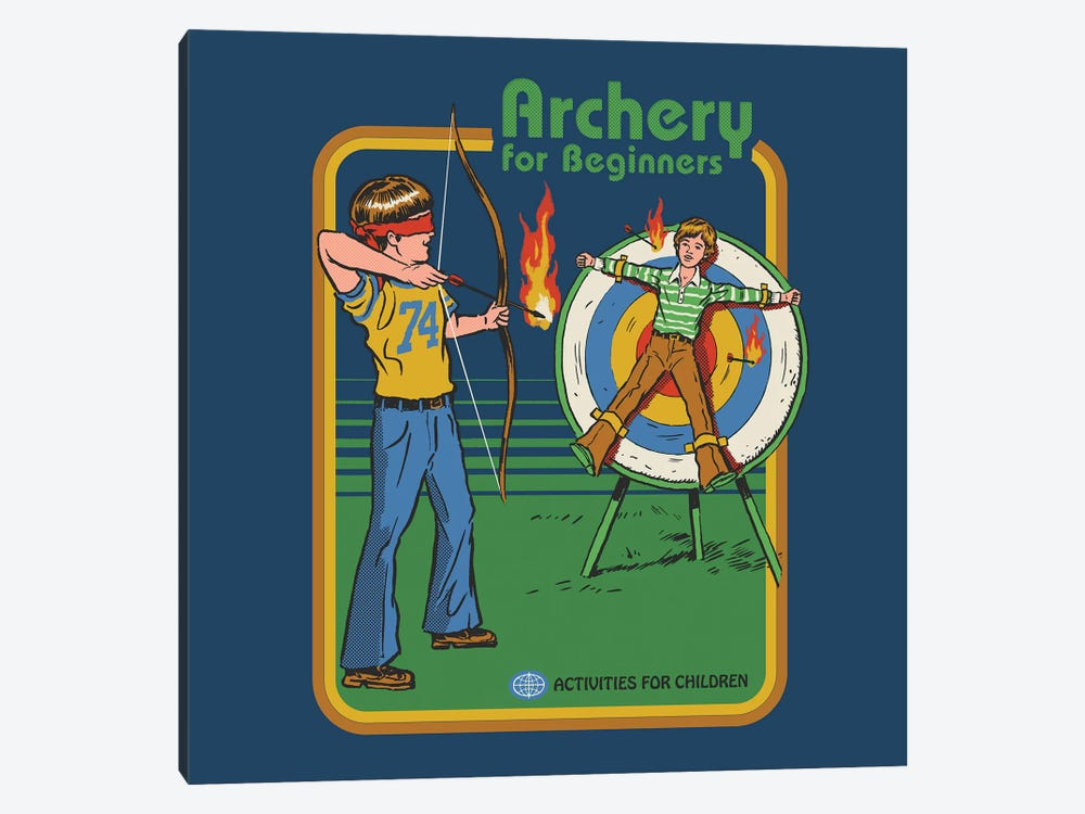 Archery For Beginners by Steven Rhodes 1-piece Canvas Art Print