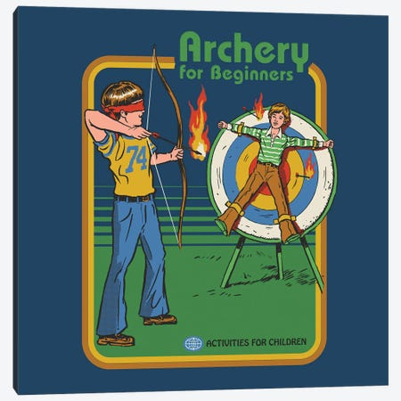 Archery For Beginners Canvas Print #STV6} by Steven Rhodes Canvas Artwork