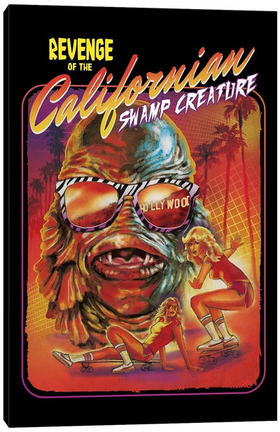 Californian Swamp Creature Canvas Art Print