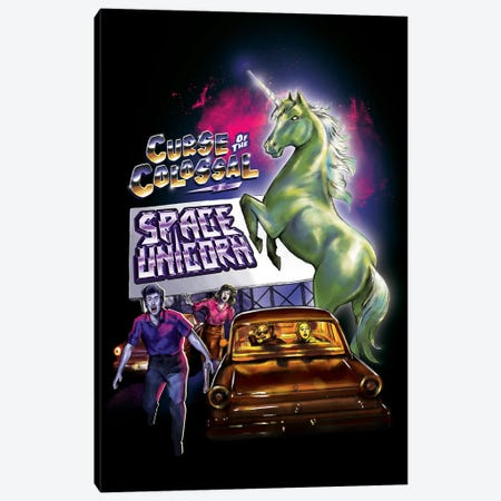 Colossal Space Unicorn Canvas Print #STV8} by Steven Rhodes Art Print