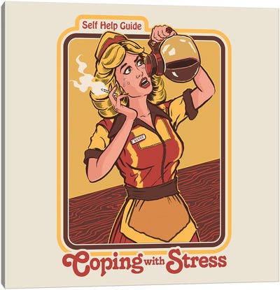 Coping With Stress Canvas Art Print