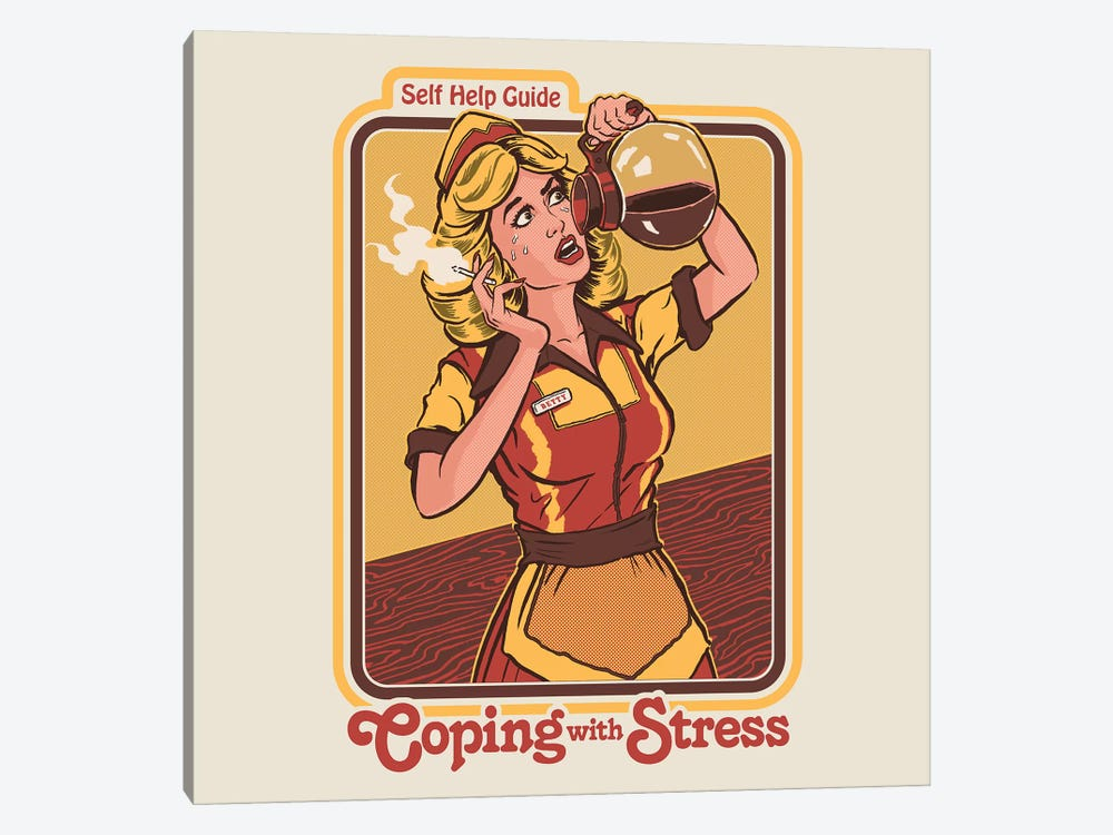 Coping With Stress by Steven Rhodes 1-piece Canvas Artwork
